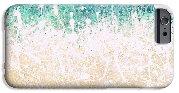 Abstract On Canvas Paintings iPhone Cases - Splash iPhone Case by Jaison Cianelli