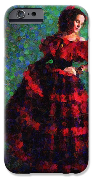 Abstract Expressionism iPhone Cases - Splash Of Spain In Red iPhone Case by Georgiana Romanovna