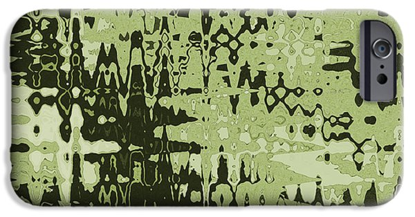 Abstract Digital Tapestries - Textiles iPhone Cases - Splash Olive iPhone Case by FabricWorks Studio