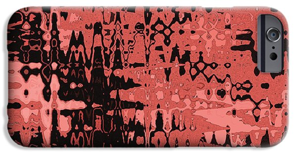 Abstract Digital Tapestries - Textiles iPhone Cases - Splash Red iPhone Case by FabricWorks Studio