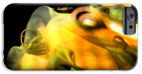 Abstract Digital Glass Art iPhone Cases - Splash iPhone Case by Uleria Caramel