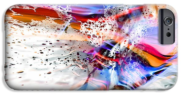 Abstract Digital iPhone Cases - Splatter 2 iPhone Case by Margie Chapman