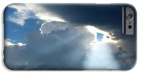 Pines iPhone Cases - Splendid Cloudscape 8 iPhone Case by Will Borden