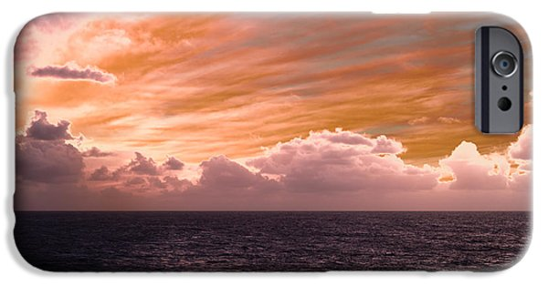 Drama iPhone Cases - Splendorous Skies At Sea iPhone Case by Bill Tiepelman