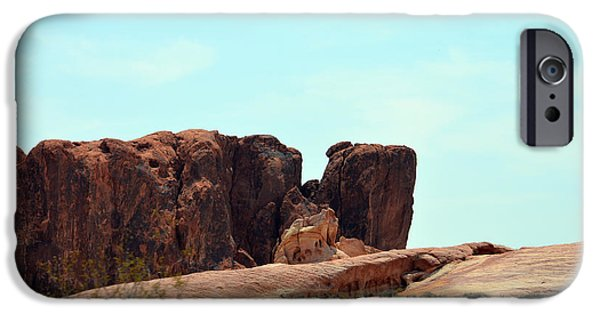 Red Rock Tapestries - Textiles iPhone Cases - Split Mountain iPhone Case by Edna Weber