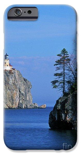 Split iPhone Cases - Split Rock Lighthouse - FS000120 iPhone Case by Daniel Dempster