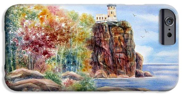Split iPhone Cases - Split Rock Lighthouse iPhone Case by Deborah Ronglien