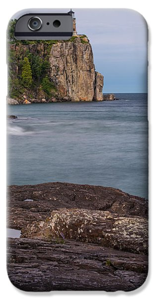 Tree Art Print iPhone Cases - Split Rock Lighthouse Near The Shore iPhone Case by Bill Bucu