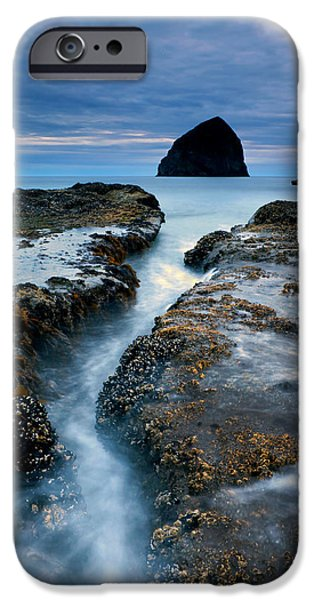 Recently Sold -  - Ocean Sunset iPhone Cases - Splitting Stone iPhone Case by Mike  Dawson