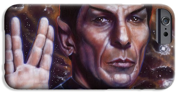 Airbrush iPhone Cases - Spock iPhone Case by Tim  Scoggins