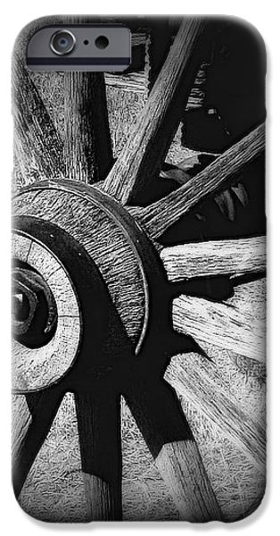 Spoked wheel iPhone Case by Perry Webster
