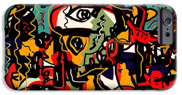 Abstract Expressionism iPhone Cases - Spontaneous Expression iPhone Case by Natalie Holland