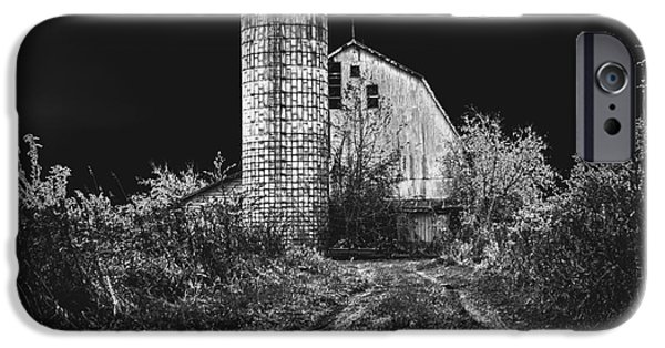 Creepy iPhone Cases - Spooky Barn iPhone Case by Cobbled Path Photography