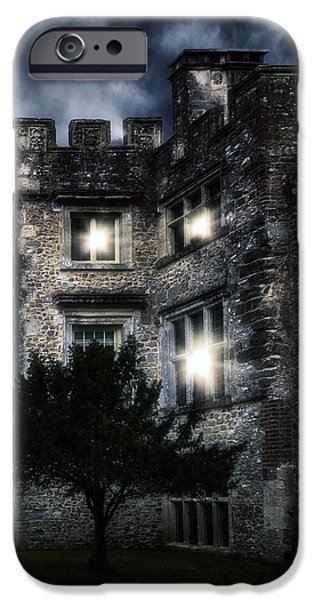 Creepy iPhone Cases - Spooky Castle iPhone Case by Joana Kruse