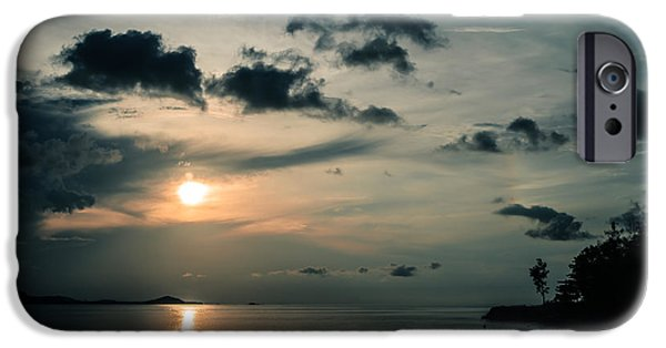 Sea iPhone Cases - Spooky Evening iPhone Case by Michelle Meenawong