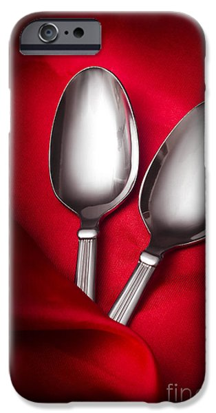 Break Fast iPhone Cases - Spooning in two course iPhone Case by Ryan Jorgensen