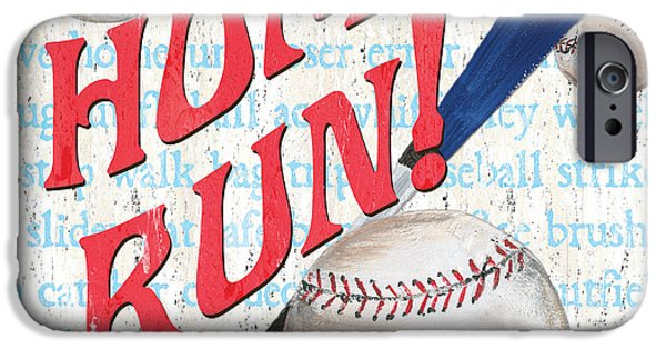 Run iPhone Cases - Sports Fan Baseball iPhone Case by Debbie DeWitt