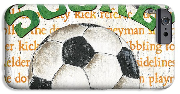 Dribbling iPhone Cases - Sports Fan Soccer iPhone Case by Debbie DeWitt