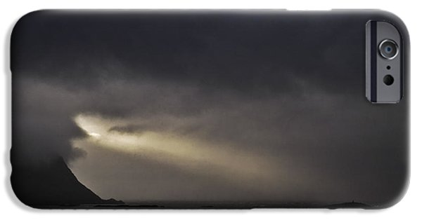 Natural Forces iPhone Cases - Spotlight in the sky iPhone Case by Heiko Koehrer-Wagner