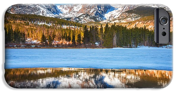 Frozen Lake iPhone Cases - Sprague Lake iPhone Case by Darren  White