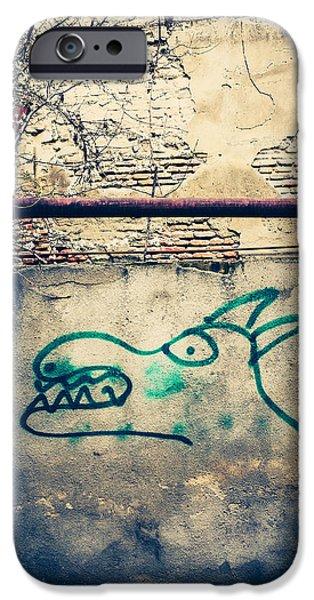 Tbilisi Photographs iPhone Cases - Spray Painted Dog iPhone Case by Paul Bucknall