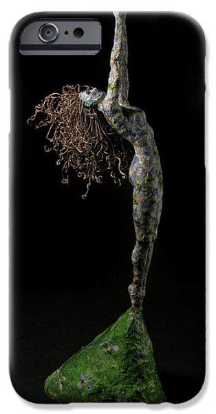 Spring a sculpture by Adam Long iPhone Case by Adam Long