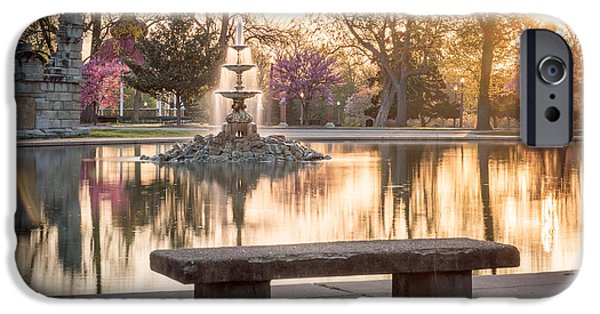 Recently Sold -  - Ruin iPhone Cases - Spring at the Fountain Pond iPhone Case by Scott Rackers