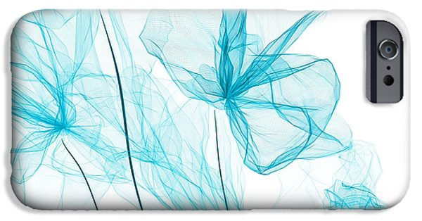 Blue Abstracts iPhone Cases - Spring Blossoming iPhone Case by Lourry Legarde