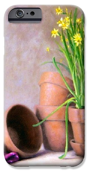 Garden Scene Paintings iPhone Cases - Spring Bouquet iPhone Case by Rick Hansen