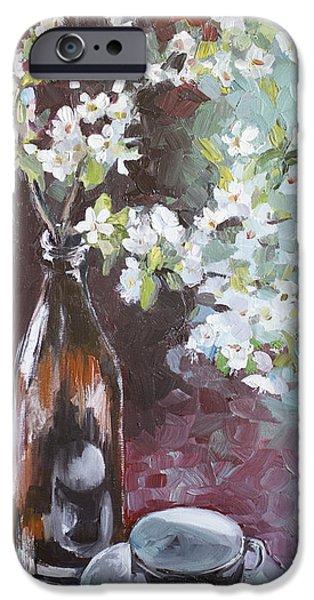 Flower Of Life iPhone Cases - Spring breakfast iPhone Case by Vali Irina Ciobanu