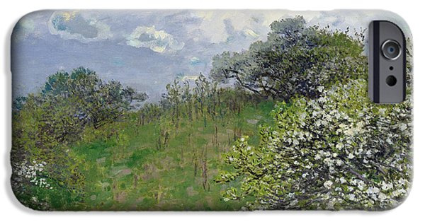 French Signs iPhone Cases - Spring iPhone Case by Claude Monet