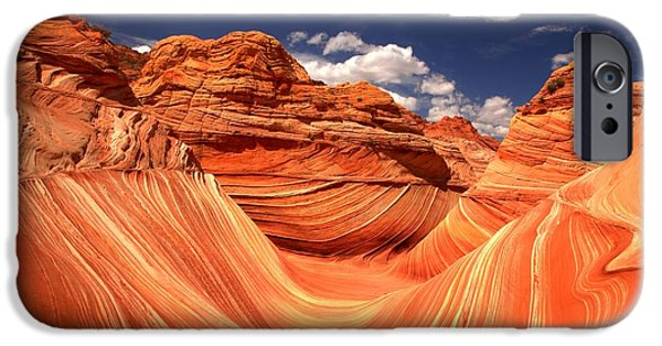 The Plateaus iPhone Cases - Spring Clouds Over The Wave iPhone Case by Adam Jewell