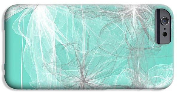 Blue Abstracts iPhone Cases - Spring Delicates iPhone Case by Lourry Legarde