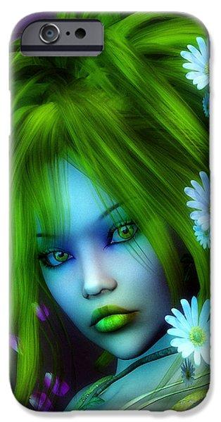 Spring Elf iPhone Case by Jutta Maria Pusl
