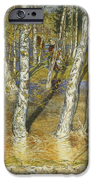 Flooding iPhone Cases - Spring Flood iPhone Case by Carl Larsson
