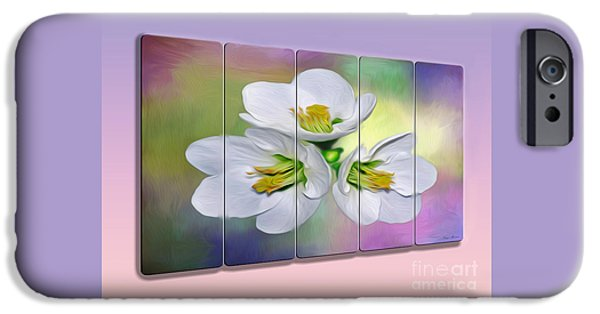 Floral Photographs iPhone Cases - Spring Floral - Panel Art by Kaye Menner iPhone Case by Kaye Menner