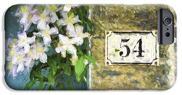 Cambridge iPhone Cases - Spring Flowers at No. 54 Cambridge England iPhone Case by Carol Leigh