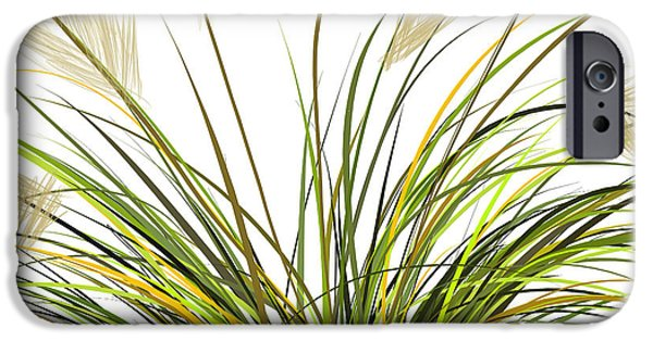 Moss iPhone Cases - Spring Grass iPhone Case by Lourry Legarde