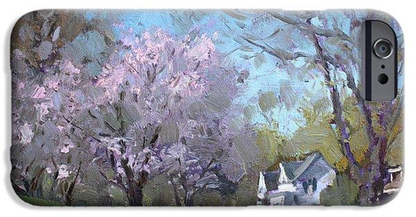 House iPhone Cases - Spring in J C Saddington Park iPhone Case by Ylli Haruni