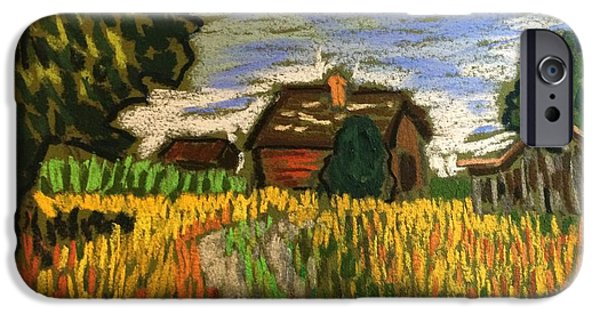 Shed Pastels iPhone Cases - Spring in the Country iPhone Case by Tim Bruneau