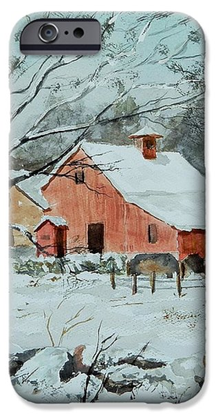 Maine Farms Paintings iPhone Cases - Spring Is Coming iPhone Case by Jim Decker