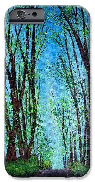 Asphalt Paintings iPhone Cases - Spring iPhone Case by Maggie Ullmann