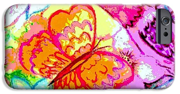 Garden Scene Paintings iPhone Cases - Spring Magic iPhone Case by Hazel Holland