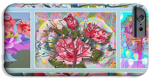Floral Digital Art Digital Art iPhone Cases - Spring Medley iPhone Case by Eleni Mac Synodinos