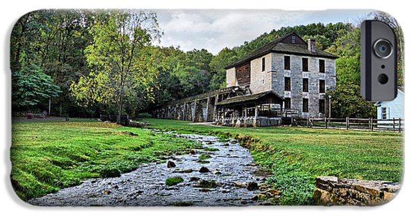 Grist Mill iPhone Cases - Spring Mill State Park iPhone Case by Sandy Keeton