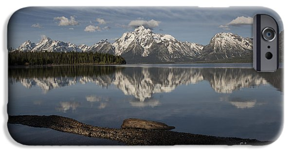 United iPhone Cases - Spring Morning At Colter Bay - Grand Teton National Park iPhone Case by Sandra Bronstein