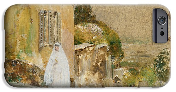 First Lady iPhone Cases - Spring Morning at Montmartre iPhone Case by Childe Hassam