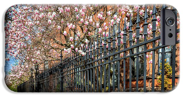 Boston Ma iPhone Cases - Spring Morning in Boston iPhone Case by Larry  Richardson