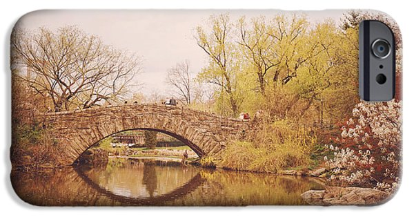 Cherry Blossoms iPhone Cases - Spring - New York City - Central Park Landscape iPhone Case by Vivienne Gucwa