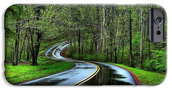 Julie Dant Photogrpahy Photographs iPhone Cases - Spring on the Natchez Trace iPhone Case by Julie Riker Dant